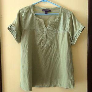 Women's petite XL short sleeve casual top